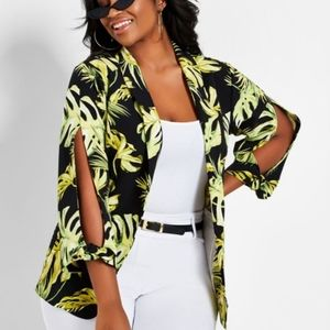 Ashley Stewart Printed Blazer